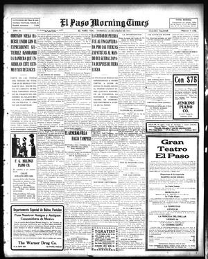 Primary view of object titled 'El Paso Morning Times (El Paso, Tex.), Vol. 35TH YEAR, Ed. 1, Sunday, January 24, 1915'.