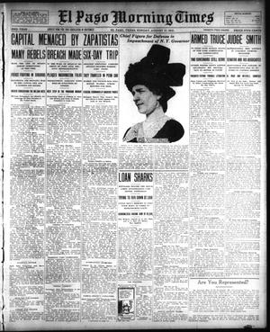 Primary view of object titled 'El Paso Morning Times (El Paso, Tex.), Vol. 33RD YEAR, Ed. 1, Sunday, August 17, 1913'.