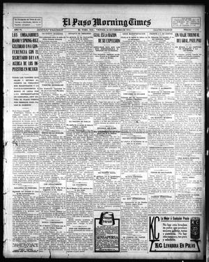 Primary view of object titled 'El Paso Morning Times (El Paso, Tex.), Vol. 35TH YEAR, Ed. 1, Friday, February 26, 1915'.