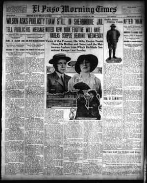 Primary view of object titled 'El Paso Morning Times (El Paso, Tex.), Vol. 33RD YEAR, Ed. 1, Friday, August 22, 1913'.