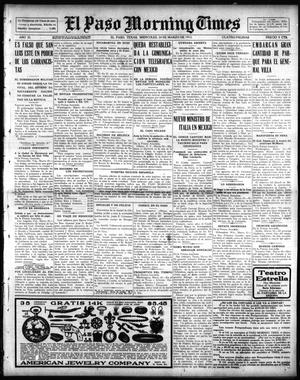 Primary view of object titled 'El Paso Morning Times (El Paso, Tex.), Vol. 35TH YEAR, Ed. 1, Wednesday, March 24, 1915'.