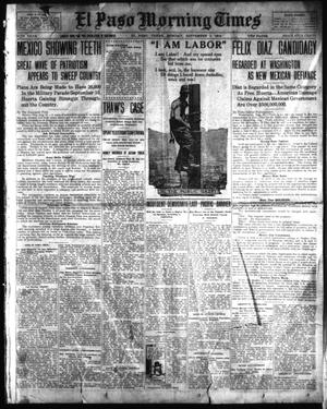 Primary view of object titled 'El Paso Morning Times (El Paso, Tex.), Vol. 34TH YEAR, Ed. 1, Monday, September 1, 1913'.