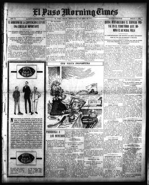 Primary view of object titled 'El Paso Morning Times (El Paso, Tex.), Vol. 35TH YEAR, Ed. 1, Wednesday, April 7, 1915'.