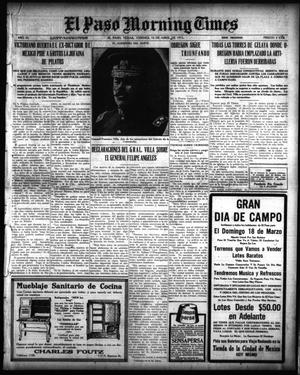 Primary view of object titled 'El Paso Morning Times (El Paso, Tex.), Vol. 35TH YEAR, Ed. 1, Friday, April 16, 1915'.