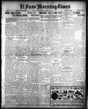 Primary view of El Paso Morning Times (El Paso, Tex.), Vol. 35TH YEAR, Ed. 1, Monday, April 26, 1915