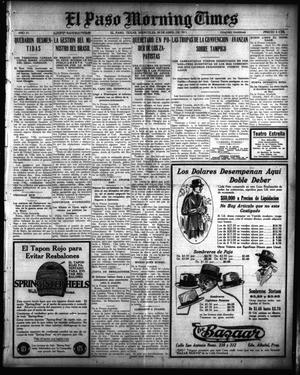 Primary view of El Paso Morning Times (El Paso, Tex.), Vol. 35TH YEAR, Ed. 1, Wednesday, April 28, 1915