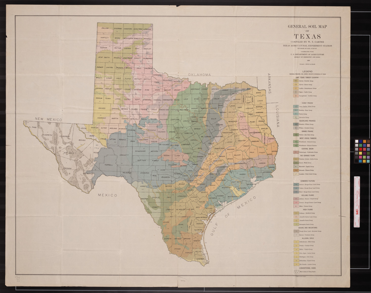Full Map Of Texas.General Soil Map Of Texas Side 1 Of 1 The Portal To Texas History