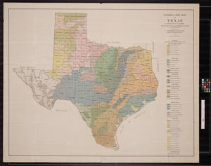 General soil map of Texas
