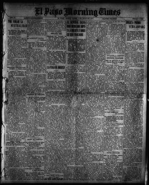 Primary view of object titled 'El Paso Morning Times (El Paso, Tex.), Vol. 35TH YEAR, Ed. 1, Monday, July 5, 1915'.