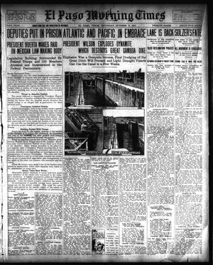 Primary view of El Paso Morning Times (El Paso, Tex.), Vol. 34TH YEAR, Ed. 1, Saturday, October 11, 1913
