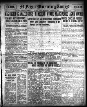 Primary view of object titled 'El Paso Morning Times (El Paso, Tex.), Vol. 34TH YEAR, Ed. 2, Wednesday, October 15, 1913'.
