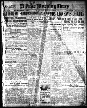 Primary view of object titled 'El Paso Morning Times (El Paso, Tex.), Vol. 34TH YEAR, Ed. 1, Saturday, November 1, 1913'.