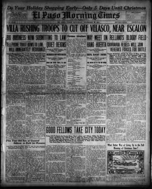Primary view of object titled 'El Paso Morning Times (El Paso, Tex.), Vol. 34TH YEAR, Ed. 1, Saturday, December 20, 1913'.