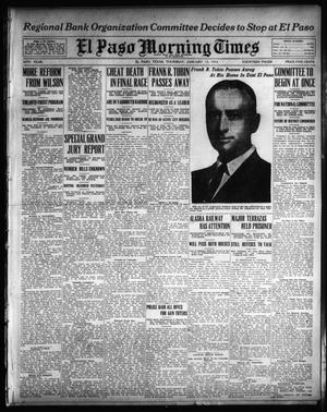 Primary view of object titled 'El Paso Morning Times (El Paso, Tex.), Vol. 34TH YEAR, Ed. 1, Thursday, January 15, 1914'.