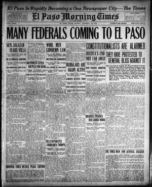Primary view of object titled 'El Paso Morning Times (El Paso, Tex.), Vol. 34TH YEAR, Ed. 1, Sunday, January 18, 1914'.