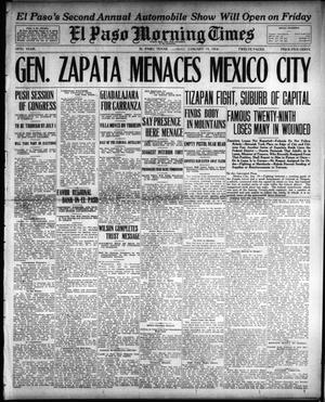Primary view of object titled 'El Paso Morning Times (El Paso, Tex.), Vol. 34TH YEAR, Ed. 1, Monday, January 19, 1914'.