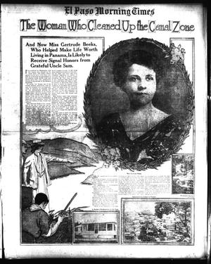 Primary view of object titled 'El Paso Morning Times (El Paso, Tex.), Vol. 34TH YEAR, Ed. 1, Sunday, February 8, 1914'.