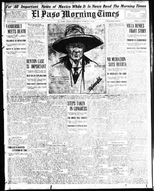 Primary view of object titled 'El Paso Morning Times (El Paso, Tex.), Vol. 34TH YEAR, Ed. 1, Saturday, March 7, 1914'.