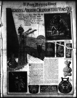 Primary view of object titled 'El Paso Morning Times (El Paso, Tex.), Vol. 34TH YEAR, Ed. 1, Sunday, March 8, 1914'.