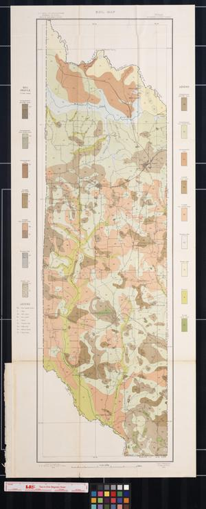 Primary view of object titled 'Soil map, Texas, Morris County sheet'.