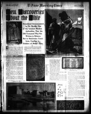 Primary view of object titled 'El Paso Morning Times (El Paso, Tex.), Vol. 34TH YEAR, Ed. 1, Sunday, May 3, 1914'.