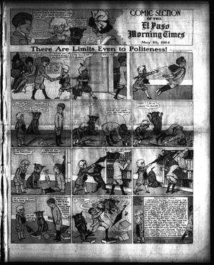 Primary view of object titled 'El Paso Morning Times (El Paso, Tex.), Vol. 34TH YEAR, Ed. 1, Sunday, May 10, 1914'.