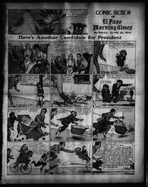 Primary view of object titled 'El Paso Morning Times (El Paso, Tex.), Vol. 34TH YEAR, Ed. 1, Sunday, June 21, 1914'.