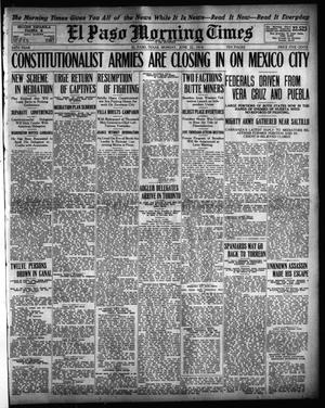 Primary view of object titled 'El Paso Morning Times (El Paso, Tex.), Vol. 34TH YEAR, Ed. 1, Monday, June 22, 1914'.
