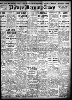 Primary view of object titled 'El Paso Morning Times (El Paso, Tex.), Vol. 34TH YEAR, Ed. 1, Saturday, June 27, 1914'.