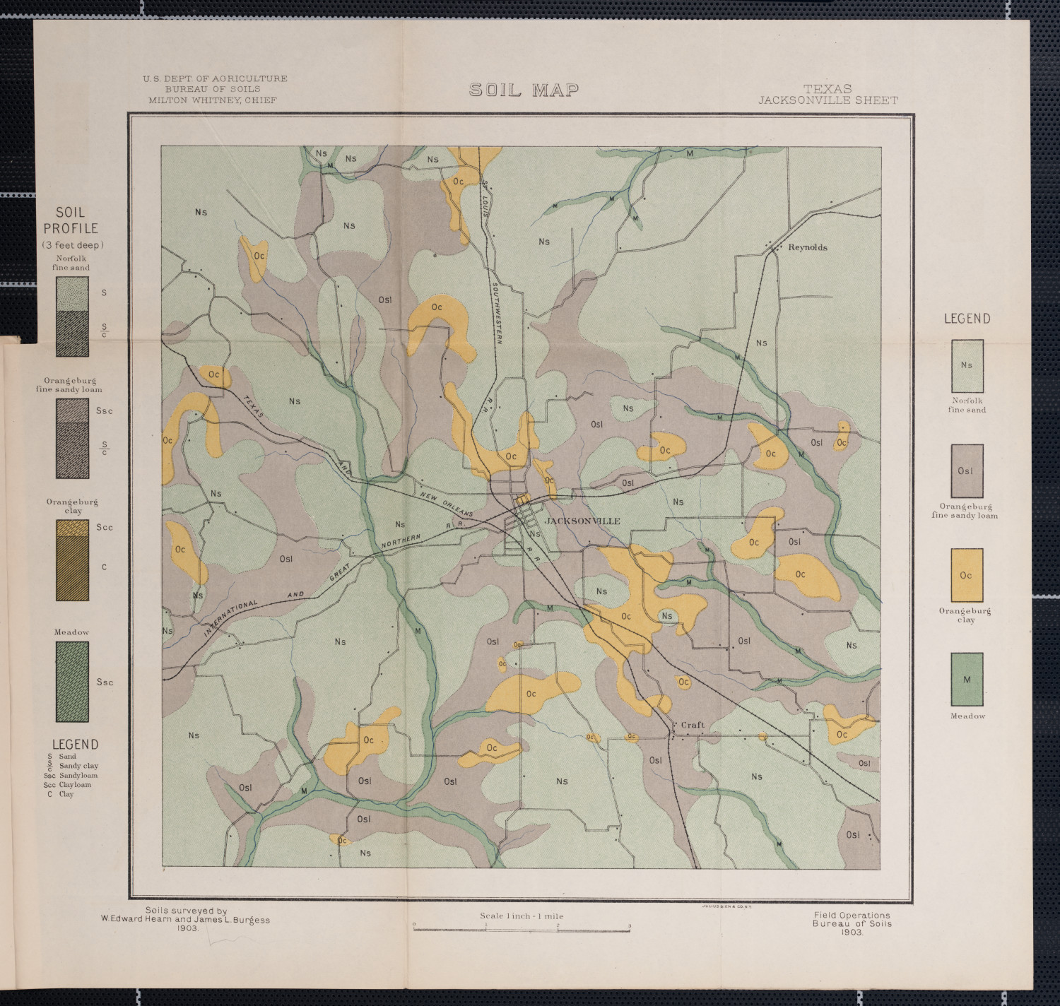 Soil map, Texas, Jacksonville sheet                                                                                                      [Sequence #]: 1 of 1