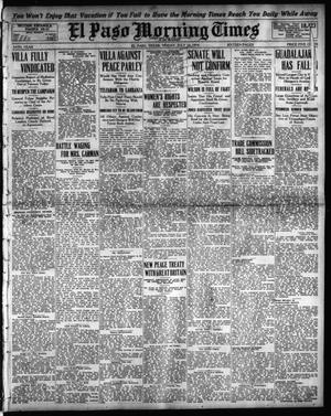 Primary view of object titled 'El Paso Morning Times (El Paso, Tex.), Vol. 34TH YEAR, Ed. 1, Friday, July 10, 1914'.