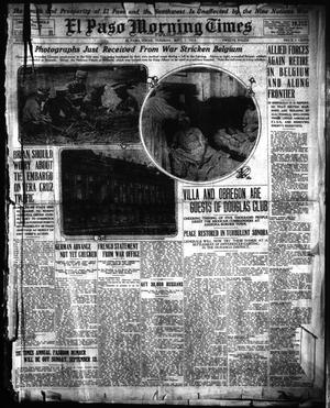 Primary view of object titled 'El Paso Morning Times (El Paso, Tex.), Vol. 35TH YEAR, Ed. 1, Tuesday, September 1, 1914'.