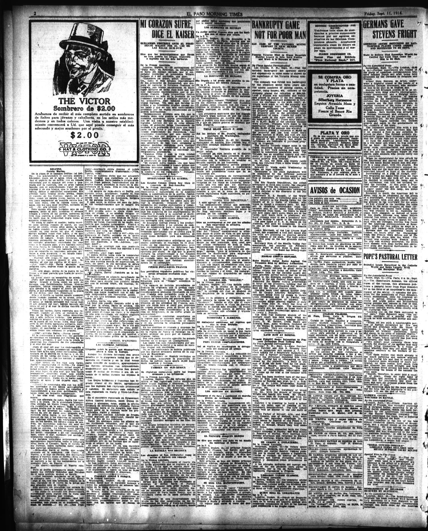 El Paso Morning Times El Paso Tex Vol 35th Year Ed 1  # Cea Muebles Paternal