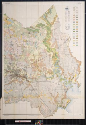 Primary view of object titled 'Soil map, Texas, Harris County, eastern sheet'.