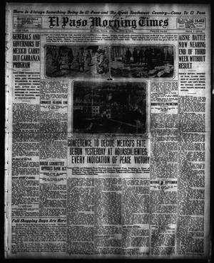 Primary view of object titled 'El Paso Morning Times (El Paso, Tex.), Vol. 35TH YEAR, Ed. 1, Friday, October 2, 1914'.
