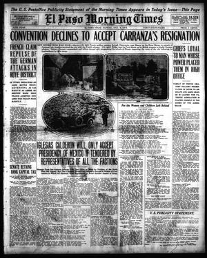 Primary view of object titled 'El Paso Morning Times (El Paso, Tex.), Vol. 35TH YEAR, Ed. 1, Sunday, October 4, 1914'.
