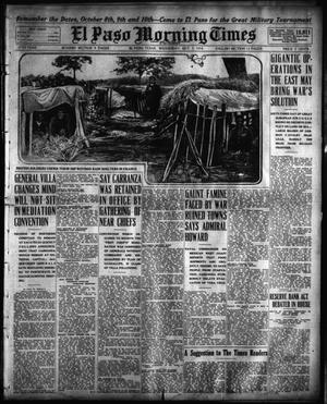 Primary view of object titled 'El Paso Morning Times (El Paso, Tex.), Vol. 35TH YEAR, Ed. 1, Wednesday, October 7, 1914'.
