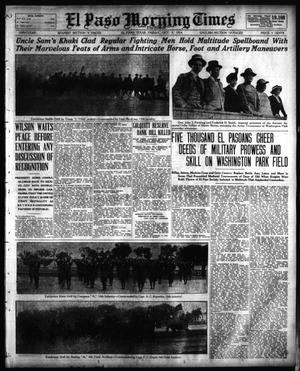 Primary view of object titled 'El Paso Morning Times (El Paso, Tex.), Vol. 35TH YEAR, Ed. 1, Friday, October 9, 1914'.