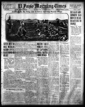 Primary view of object titled 'El Paso Morning Times (El Paso, Tex.), Vol. 35TH YEAR, Ed. 1, Wednesday, October 14, 1914'.
