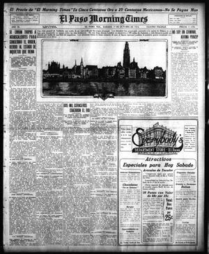 Primary view of object titled 'El Paso Morning Times (El Paso, Tex.), Vol. 35TH YEAR, Ed. 1, Saturday, October 17, 1914'.