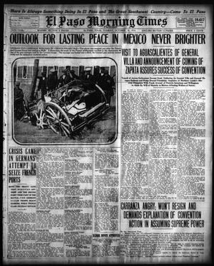 Primary view of object titled 'El Paso Morning Times (El Paso, Tex.), Vol. 35TH YEAR, Ed. 1, Tuesday, October 20, 1914'.