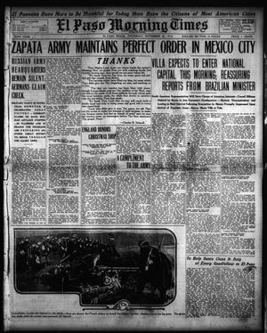 Primary view of object titled 'El Paso Morning Times (El Paso, Tex.), Vol. 35TH YEAR, Ed. 1, Thursday, November 26, 1914'.