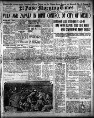 Primary view of object titled 'El Paso Morning Times (El Paso, Tex.), Vol. 35TH YEAR, Ed. 1, Saturday, November 28, 1914'.
