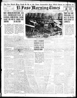 Primary view of object titled 'El Paso Morning Times (El Paso, Tex.), Vol. 35TH YEAR, Ed. 1, Thursday, December 31, 1914'.