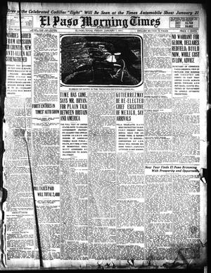 Primary view of object titled 'El Paso Morning Times (El Paso, Tex.), Vol. 35TH YEAR, Ed. 1, Friday, January 1, 1915'.