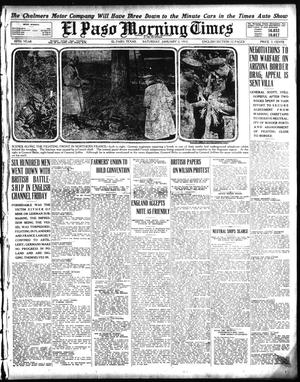 Primary view of object titled 'El Paso Morning Times (El Paso, Tex.), Vol. 35TH YEAR, Ed. 1, Saturday, January 2, 1915'.