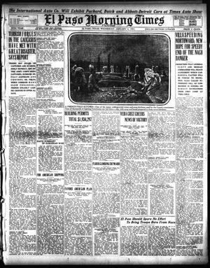 Primary view of object titled 'El Paso Morning Times (El Paso, Tex.), Vol. 35TH YEAR, Ed. 1, Wednesday, January 6, 1915'.