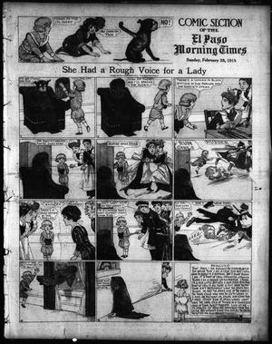 Primary view of object titled 'El Paso Morning Times (El Paso, Tex.), Vol. 35TH YEAR, Ed. 1, Sunday, February 28, 1915'.