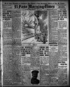 Primary view of object titled 'El Paso Morning Times (El Paso, Tex.), Vol. 35TH YEAR, Ed. 1, Wednesday, May 26, 1915'.