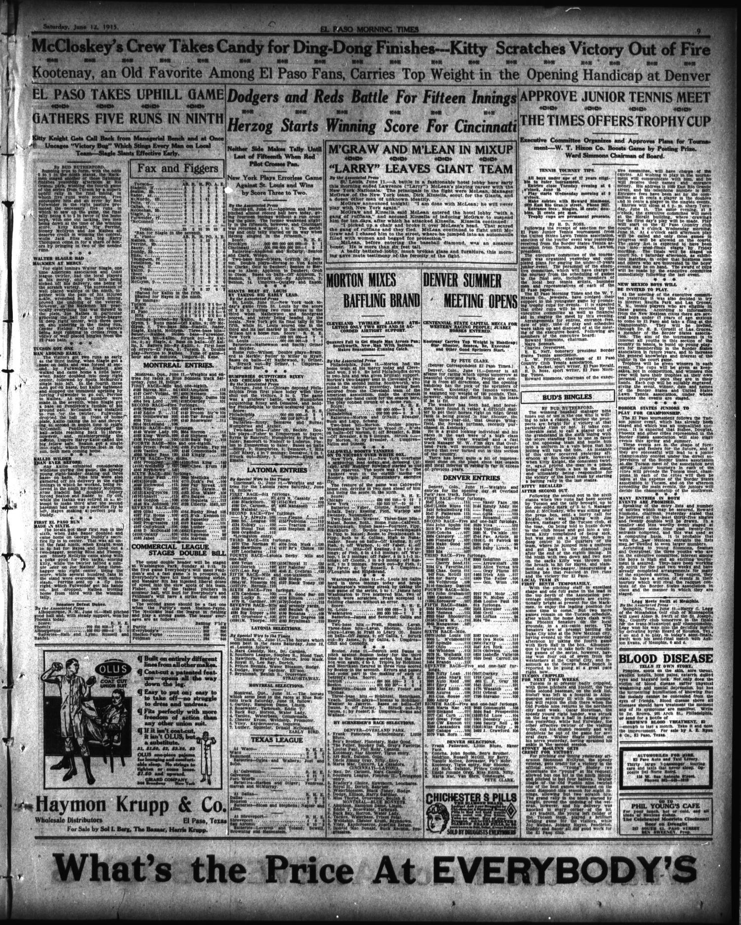 El Paso Morning Times El Paso Tex Vol 35th Year Ed 1
